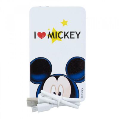 Carregador Portátil I Love Mickey Branco 2200mah