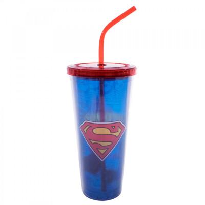 Copo Super Homem Com Cubos De Gelo 600ml