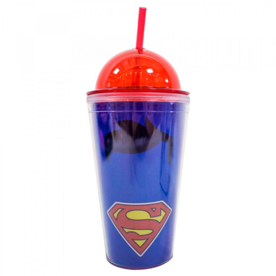 Copo Superman Tampa Oval 450ml