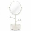 Espelho De Mesa Com Porta Joias Jacki Design Branco