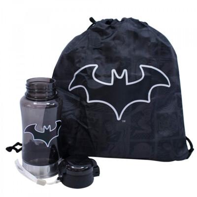 Garrafa Batman Com Mochila Saco 450ml