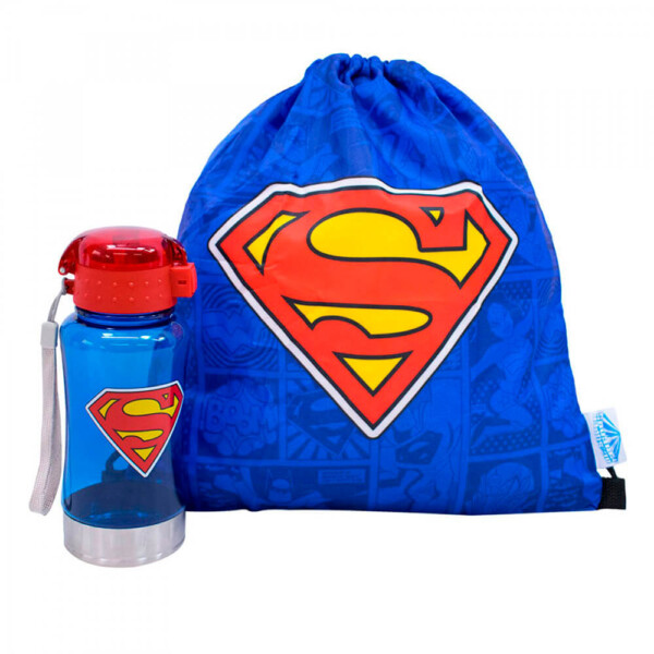 Garrafa Superman com Mochila Saco