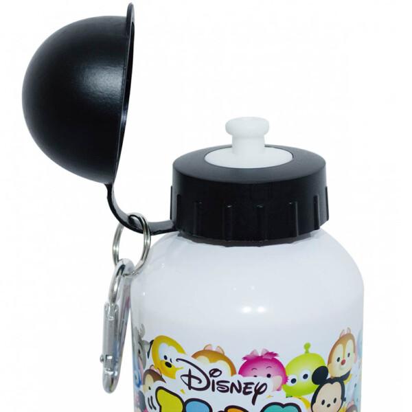 Garrafa Mickey E Minnie Tsum Tsum Branca De Alumínio 500ml
