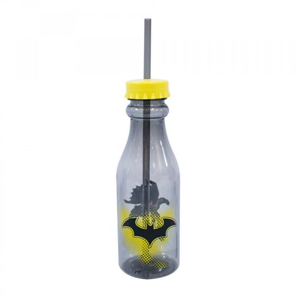Garrafa Batman Canudo Tampa Rosqueável 500ml