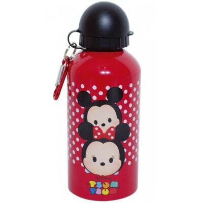 Garrafa Mickey E Minnie Tsum Tsum Vermelha De Alumínio 500ml