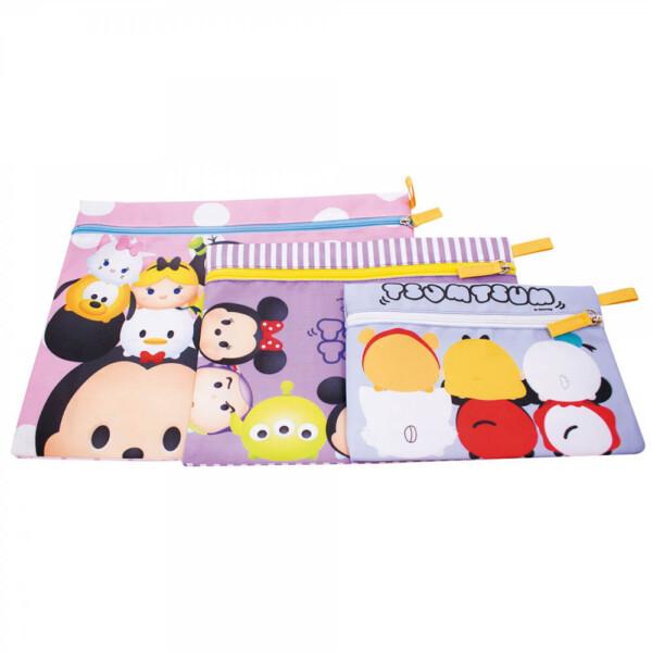 Conjunto Mickey E Minnie Tsum Tsum Com 3 Necessaires
