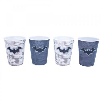 Jogo Batman Com 4 Copos 3d 400ml