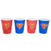 Jogo Com 4 Copos Superman 3d 400ml