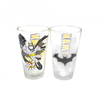 Jogo Batman Com Dois Copos De Vidro 450ml