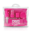Kit De Frascos Viagem De 7 Peças Jacki Design Pink