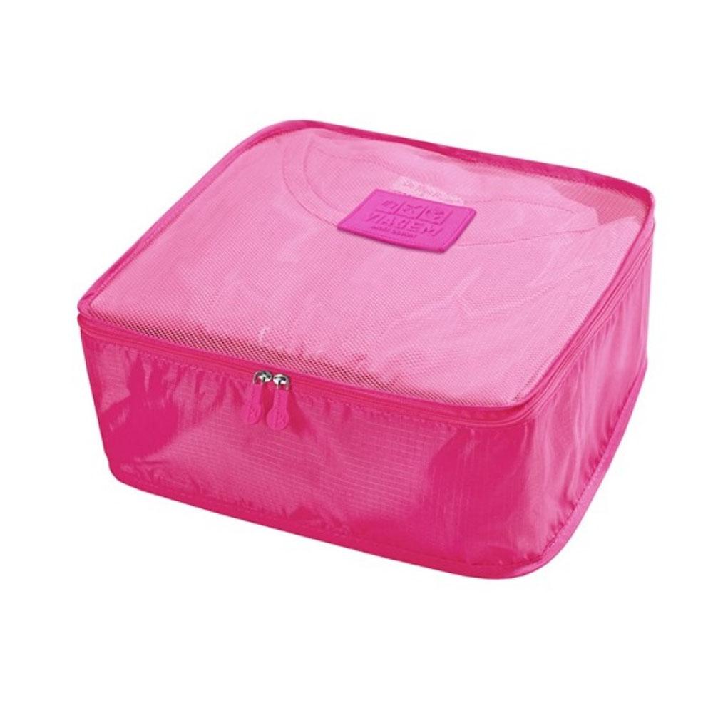 Kit Organizador De Malas De 6 Peças Jacki Design Pink