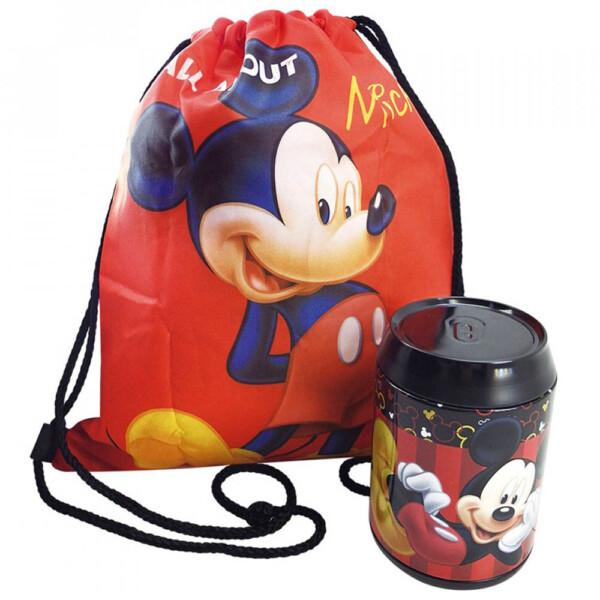 Lata + Mochila Saco Mickey