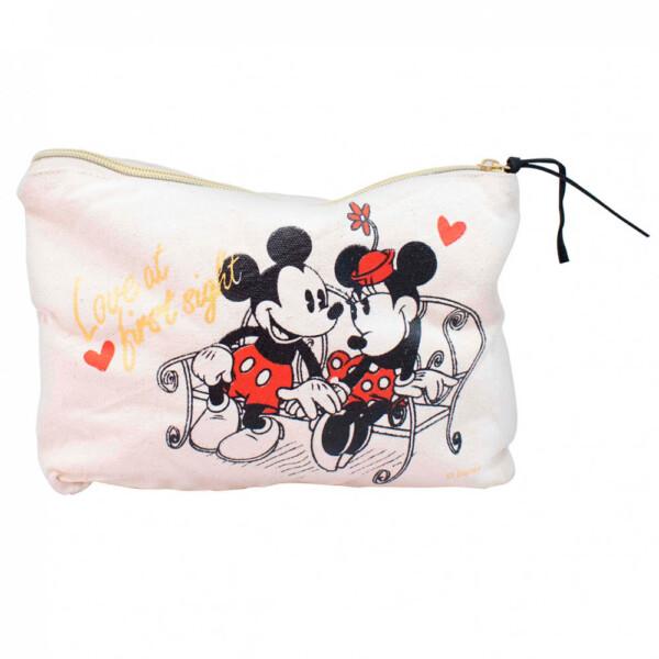 Necessaire Mickey E Minnie Namorando 25x18x6cm