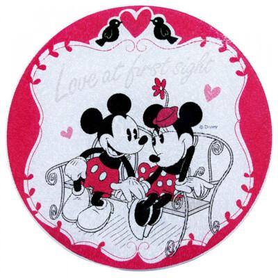 Descanso De Panela Mickey E Minnie De Vidro Amor