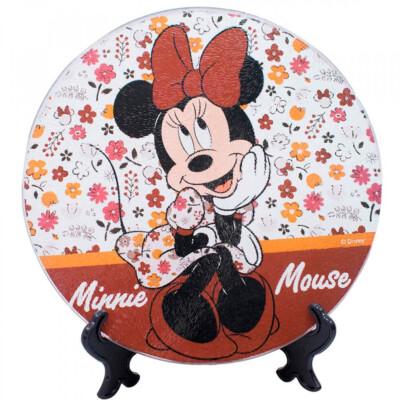 Descanso De Panela Minnie Vidro 20x20cm