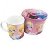 Caneca De Porcelana Rosa Na Lata Anna E Elsa Frozen 350ml