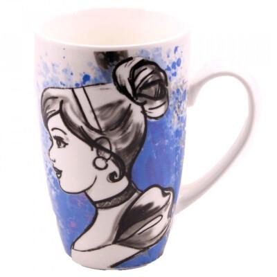 Caneca Porcelana Cinderela Princesas 400ml
