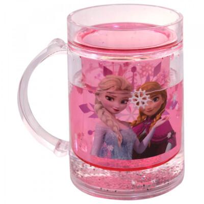 Caneca Rosa Líquido Anna E Elsa Frozen 250ml