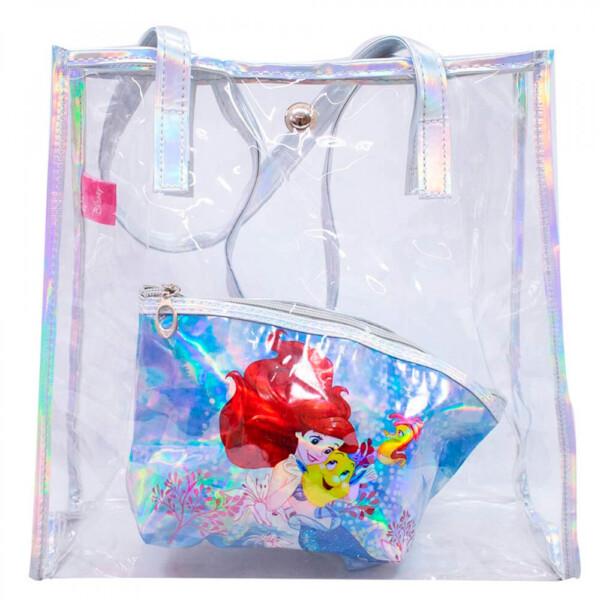 Conjunto Bolsa Com Necessaire Princesa Ariel