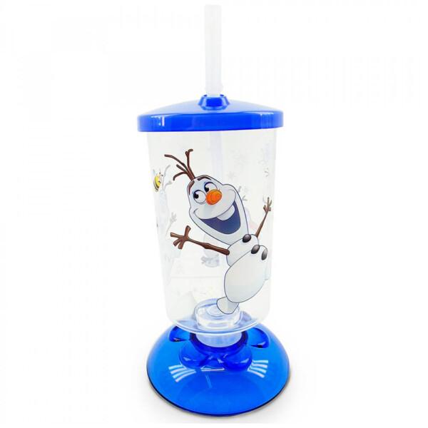 Copo Articulado Com Canudo Olaf Frozen 250ml