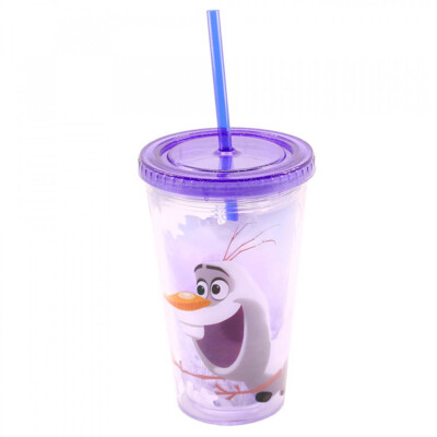 Copo Com Canudo Olaf 450ml Frozen
