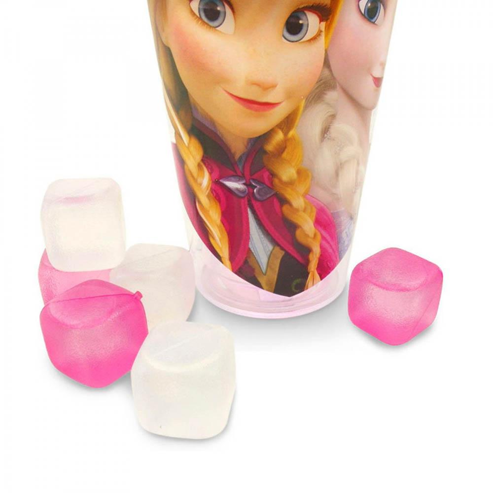 Copo Com Cubos De Gelo Anna E Elsa 600ml Frozen
