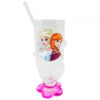 Copo Rosa Com Canudo Anna E Elsa Frozen 200ml