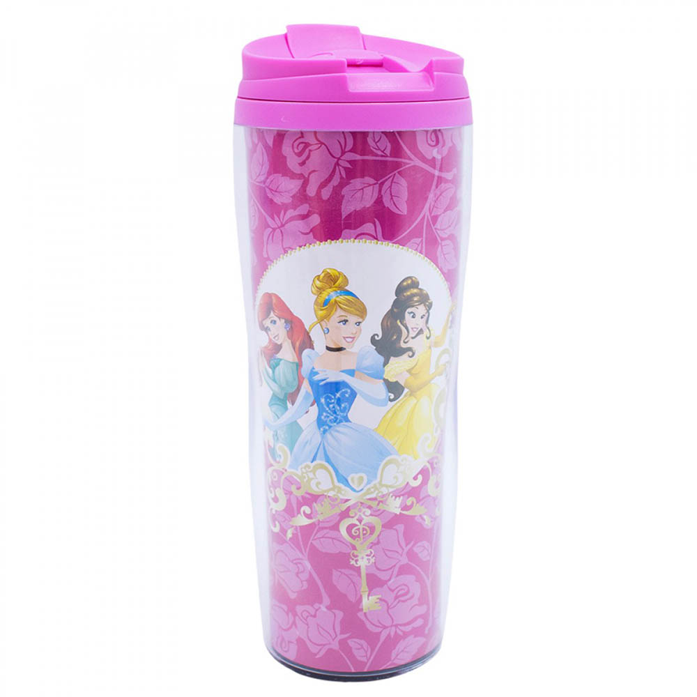 Copo Rosa Térmico Princesas 450ml