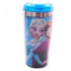 Copo Térmico Azul Com Tampa Anna E Elsa E Olaf Frozen 450ml
