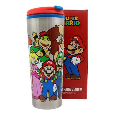Copo Viagem Super Mario E A Turma 500ml