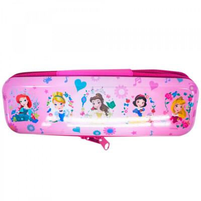 Estojo Metal Rosa Princesas Disney 19x6cm