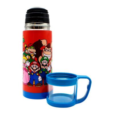 Garrafa Super Mario Com Tampa De Xícara 350ml