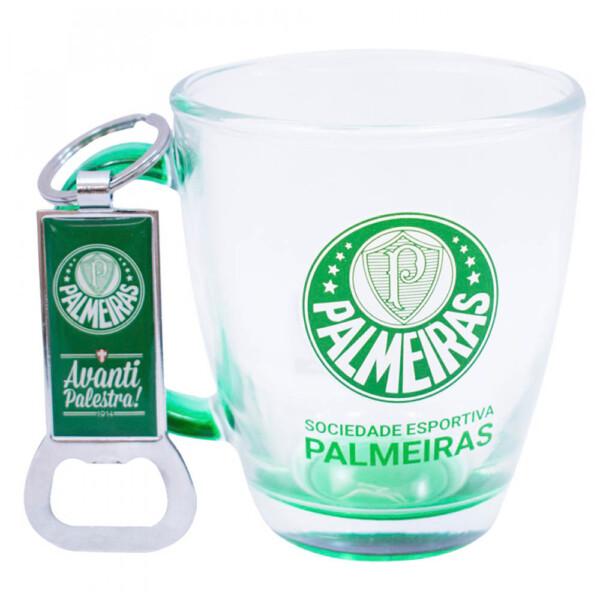 Conjunto Palmeiras Caneca De Vidro Com Abridor 370ml