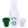 Conjunto Palmeiras Moringa De 1l + 2 Copos 125ml De Plástico
