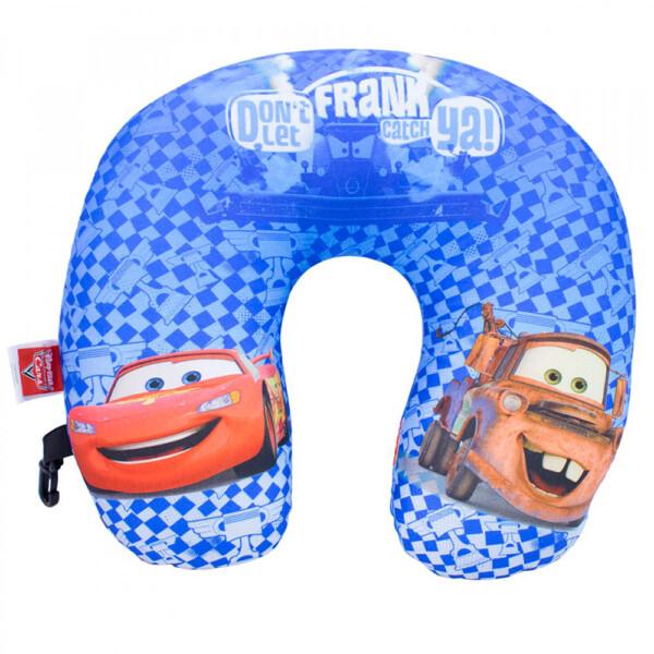Almofada De Pescoço Azul Carros Isopor