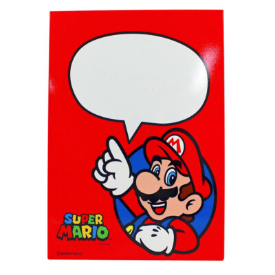 Placa Decorativa Super Mario Com Caneta 26×19