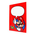 Placa Decorativa Super Mario Com Caneta 26×19