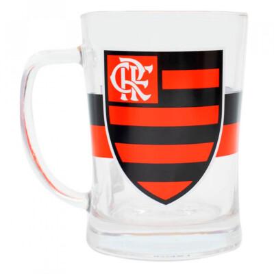Caneca De Vidro Flamengo Gigante 660ml
