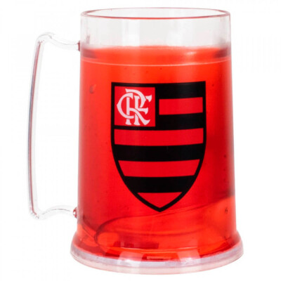 Caneca Gel Flamengo Congelante Térmico 300ml