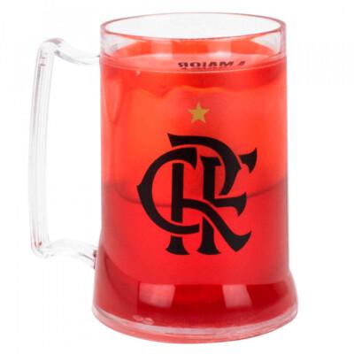 Caneca Gel Flamengo Congelante Térmico Vermelho 400ml