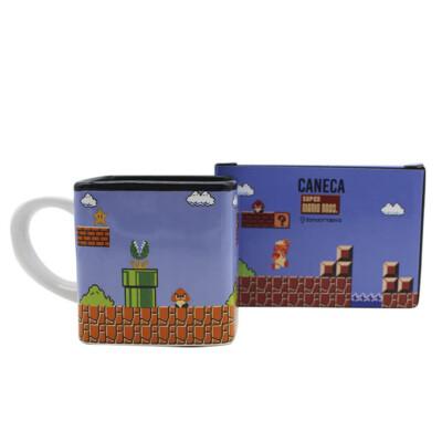 Caneca Super Mario Levels Pixels 300ml