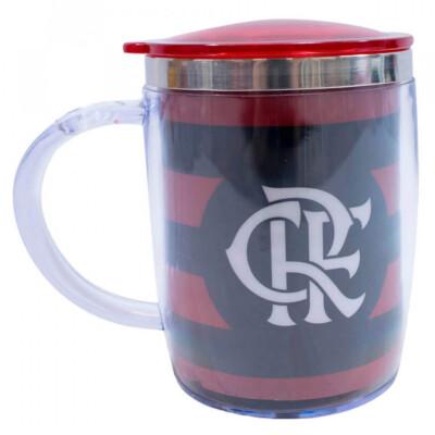 Caneca Térmica Flamengo Com Tampa 450ml