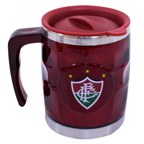 Caneca Térmica Fluminense Detalhada Com Tampa 450ml