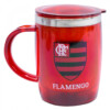 Caneca Térmica Flamengo Com Tampa Redonda 450ml