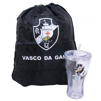 Copo Vasco Com Canudo 550ml E Mochila Tipo Saco