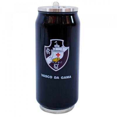 Copo De Inox Vasco Com Canudo 350ml