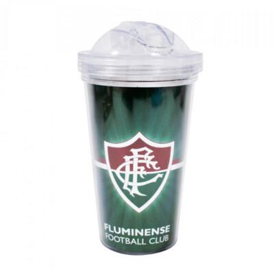 Copo De Plástico Fluminense Com Canudo 450ml
