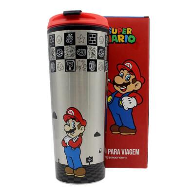 Copo Viagem Super Mario Black 450ml