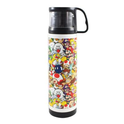 Garrafa Térmica Super Mario World Com Caneca 500ml