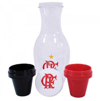 Conjunto Flamengo Moringa 1l + 2 Copos De Plástico 125ml